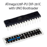 ATmega328P-PU with UNO Bootloader and Pinout Sticker