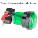 Green Illuminated Arcade Button