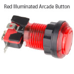 Red Illuminated Arcade Button