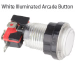 White Illuminated Arcade Button