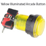 Yellow Illuminated Arcade Button